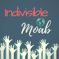 Indivisible Moab logo with hands